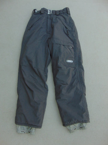 Snow Pants Child Size 10 Mole Grey Micro Fleece Lined Inside