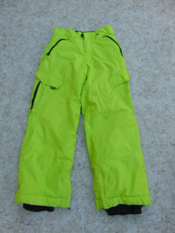 Snow Pants Child Size 12-14 Ripzone Core Lime Grey Snowboarding Minor Wear