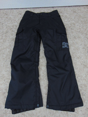 Snow Pants Child Size 12 DC Black Snowboarding New Demo Model
