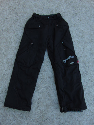 Snow Pants Child Size 12 Firefly Black Snowboarding Excellent