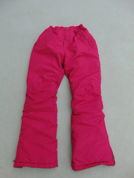 Snow Pants Child Size 12 Lands End Elastic Waist Comfort Snowboarding Raspberry