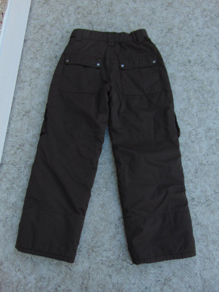 Snow Pants Child Size 14 Youth Ripzone Core Brown Snowboarding New Demo Model