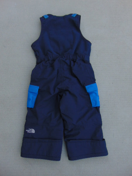 Snow Pants Child Size 2 The North Face Marine Blue With Fleece Bib New Demo Model