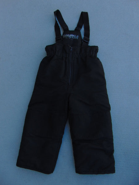 Snow Pants Child Size 3 Black With Straps Minor Wear on Straps