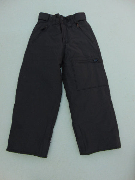 Snow Pants Child Size 6-7 Gap Black with Micro Fleece Black Lining Inside Excellent