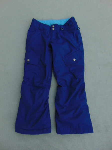 Snow Pants Child Size 7-8 Burton Snowboarding With Leg Vents Denim Blue and Aqua Fantastic Quality