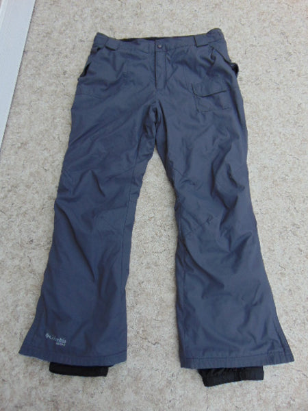 Snow Pants Ladies Size Large Columbia Dk Grey  Plum