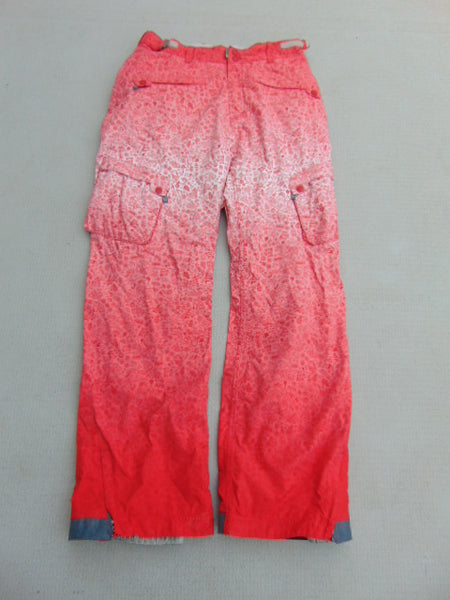 Snow Pants Ladies Size Large NFA Storm Red Multi As New Snowboarding