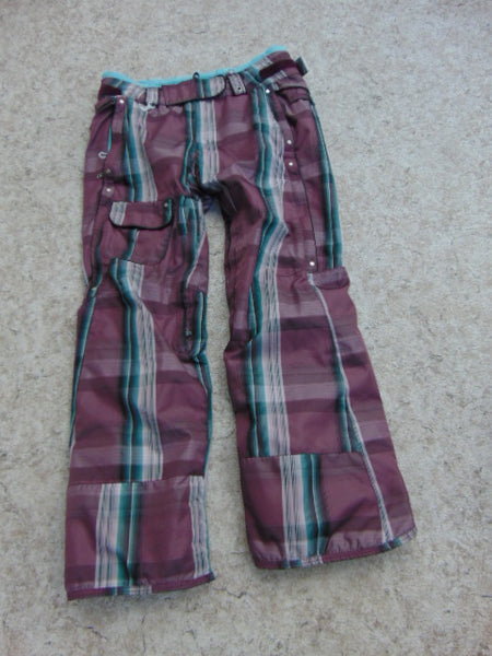 Snow Pants Ladies Size Medium 686 Teal Chocolate Snowboarding Fantastic Quality