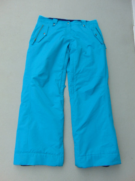 Snow Pants Ladies Size X Large Powder Room Aqua Blue Snowboarding Fantastic Quality
