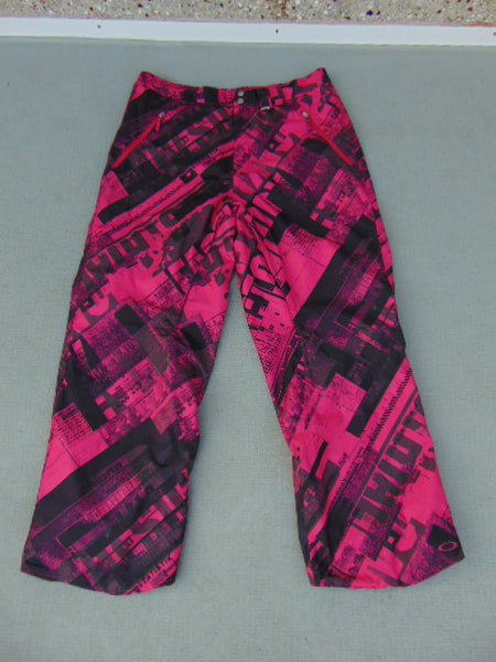 Snow Pants Men's Size X Large Oakley Fushia Black Snowboarding New Demo Model