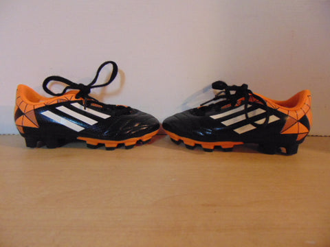 Soccer Shoes Cleats Child Size 10 Adidas Toddler Black Orange