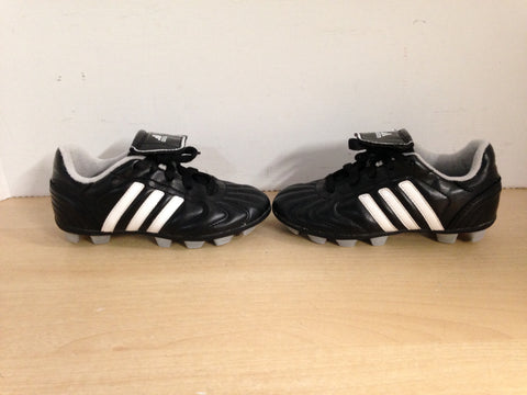 Soccer Shoes Cleats Child Size 12 Adidas Black White Grey Excellent