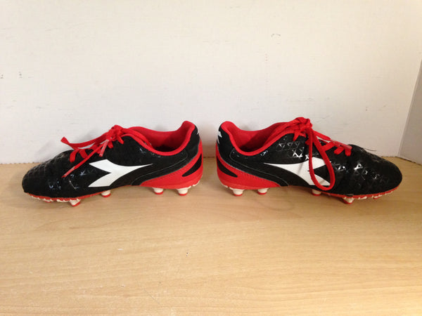 Soccer Shoes Cleats Child Size 1 Didadora Black White Red Excellent