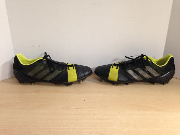 Soccer Shoes Cleats Men's Size 11.5 Adidas Nitrocharge Black and Lime