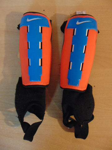 Soccer Shin Pad Child Size 6 Nike Orange Blue Black
