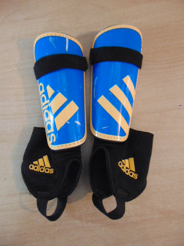 Soccer Shin Pads Child Size Small Age 4-6 Adidas Blue Yellow