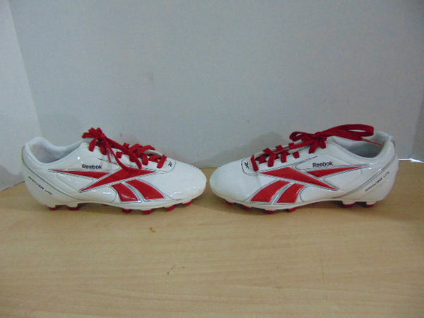 Soccer Shoes Cleats Child Size 13.5 Reebok Sprint Fit Lite White Red New Demo Model
