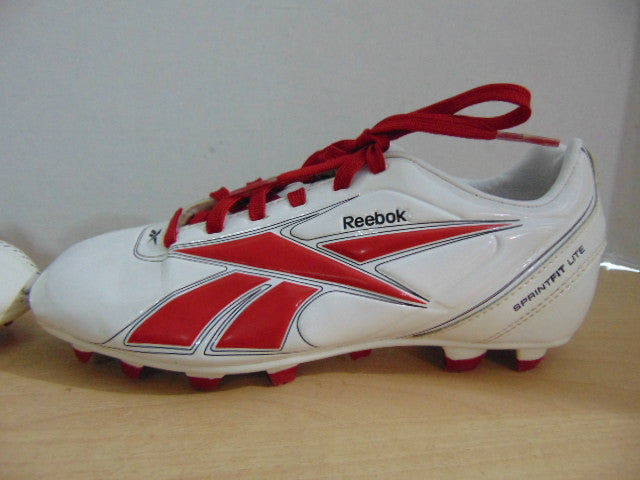 ... Football Boots  Soccer Shoes Cleats Child Size 13.5 Reebok Sprint Fit  Lite White Red New Demo Model ... 68fe85203
