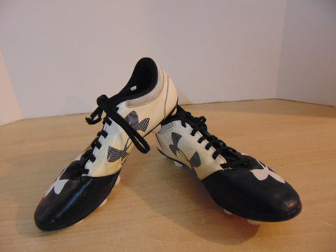 Soccer Shoes Cleats Child Size 3 Under Armour Black White