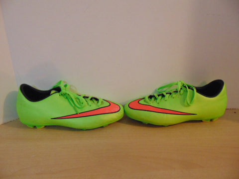 Soccer Shoes Cleats Child Size 4.5 Nike Mercurial Lime Pink Minor Wear