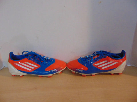 Soccer Shoes Cleats Child Size 4 Adidas Blue Orange