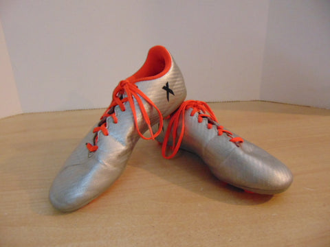 Soccer Shoes Cleats Child Size 4 Adidas Orange Grey