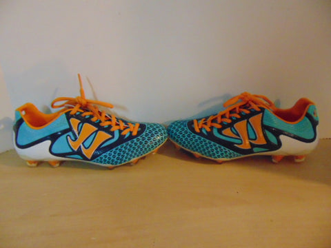 Soccer Shoes Cleats Child Size 6 Warrior 5K Reamer Blue Orange NEW