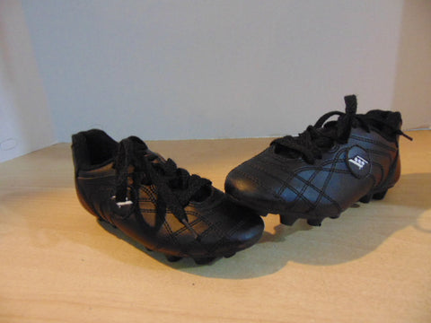 Soccer Shoes Cleats Child Size 10 Rucanor  Black