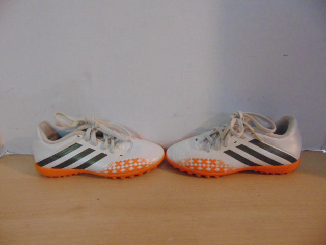 373965bccde Soccer Shoes Cleats Indoor Child Size 1.5 Adidas White Orange ...