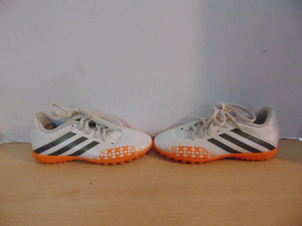 3386094713b Soccer Shoes Cleats Indoor Child Size 1.5 Adidas White Orange