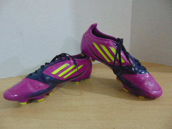 Soccer Shoes Cleats Ladies Size 7.5 Adidas F50 Purple Yellow