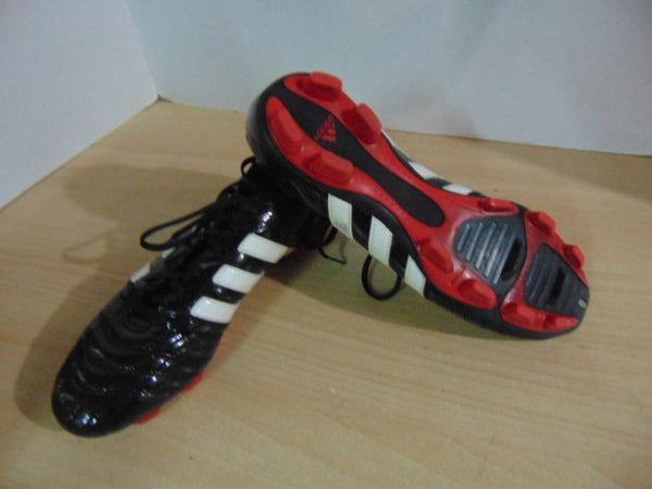 Soccer Shoes Cleats Ladies Size 8.5 Adidas Black Red