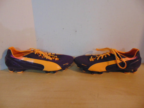 Soccer Shoes Cleats Ladies Size 9.5 Puma Evo Speed 2  Purple Orange