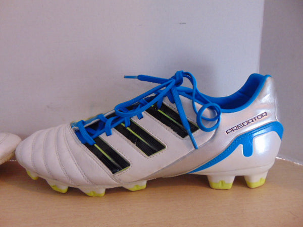 Soccer Shoes Cleats Men's Size 11.5 Adidas Preditor Blue White Minor Wear