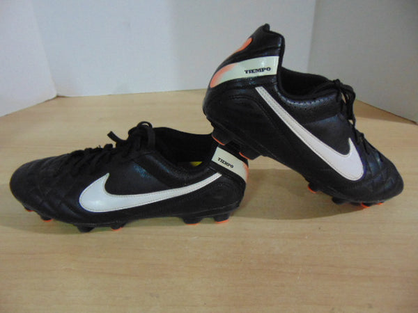Soccer Shoes Cleats Men's Size 6 Nike Tiempo Black Orange
