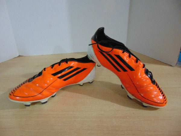 Soccer Shoes Cleats Men's Size 7 Adidas F50 Orange Black