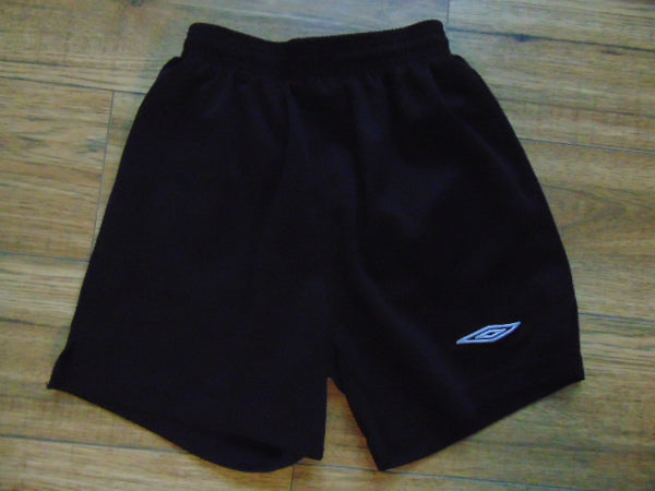 Soccer Shorts Child Size Large Black