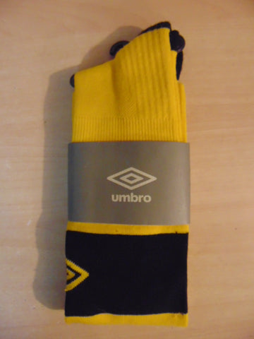 Soccer Socks Adult Size 7-9 Shoe Size Umbro Best Socks Classic NEW Yellow