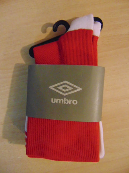 Soccer Socks Child Size 4-6 Shoe Size Umbro Best Socks Classic NEW Red