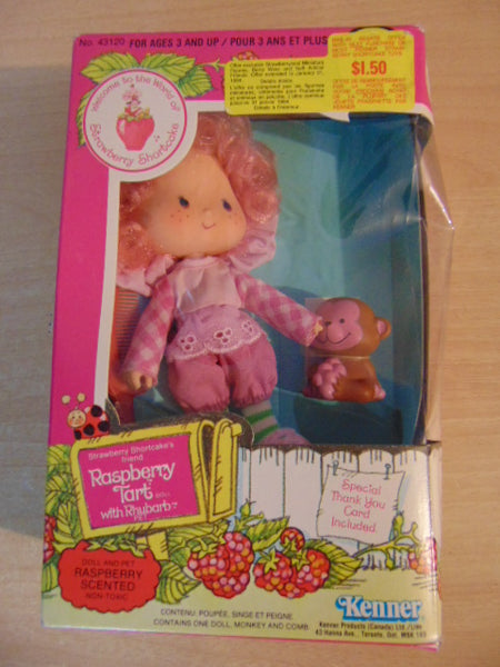 Strawberry Shortcake Vintage Raspberry Tart Rhubarb Doll 1982 New In Box #43120 RARE