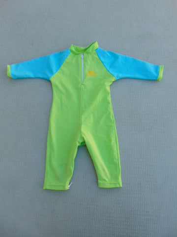 Sun Wear Child Size 12-18 Month UV Ray No Zone Blue Lime