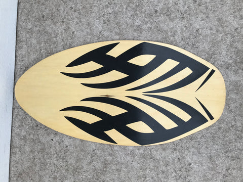 Surf Skim Board  Black Wood Fantastic Quality  42 x 20 inch