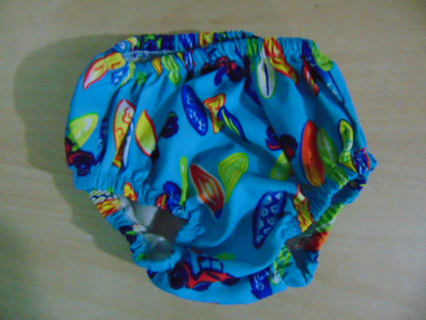 Swim Diaper Child Size 25-30 Lb Baby Water Wear Diaper Bottoms Surf Style As New