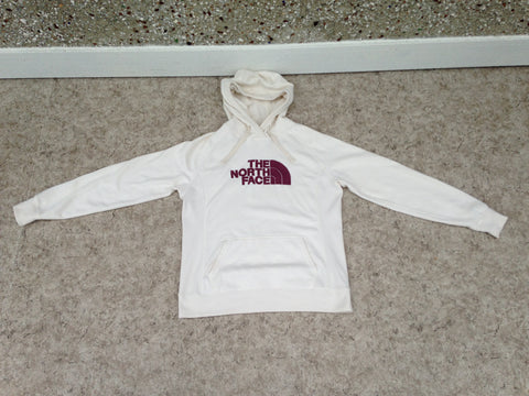 The North Face Ladies Size Large Cream Hoodie Thick Cotton As New