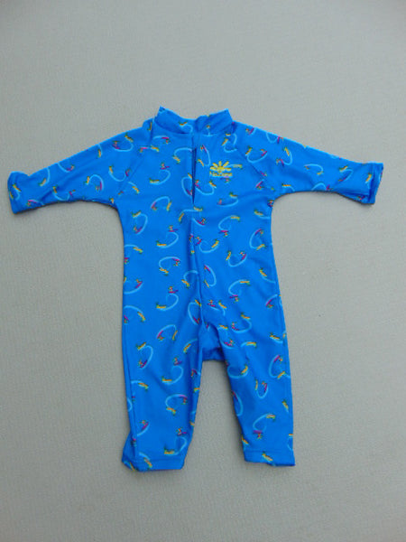 Sun Wear Child Size 12-18 Month UV Ray No Zone Blue Surfers
