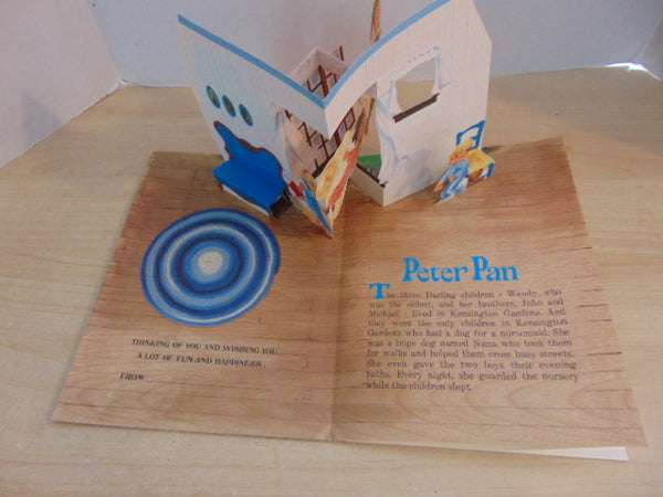 Vintage Children's Book 1970's Pop Up Stand Up Peter Pan Especially For You Hallmark First Edition Large Soft Cover RARE