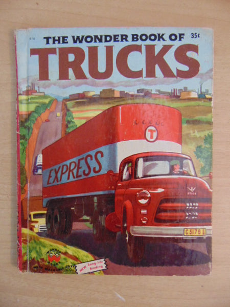 Vintage Children's Book 1954 The Wonder Book Of Trucks