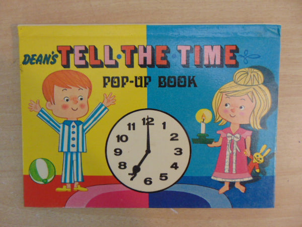 Vintage Children's Book 1970's Pop Up Tell The Time Dean's Pop Up Lift Flap Pull Tabs RARE