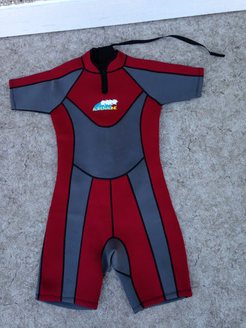 Wetsuit Ladies Size 12-14 X Large Adrenaline Red Grey 2-3 mm Excellent